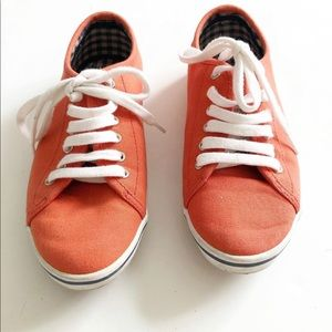 Fred Perry Orange canvas shoes